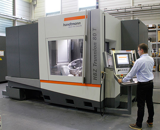 centre usinage 5 axes HBZ Trunnion