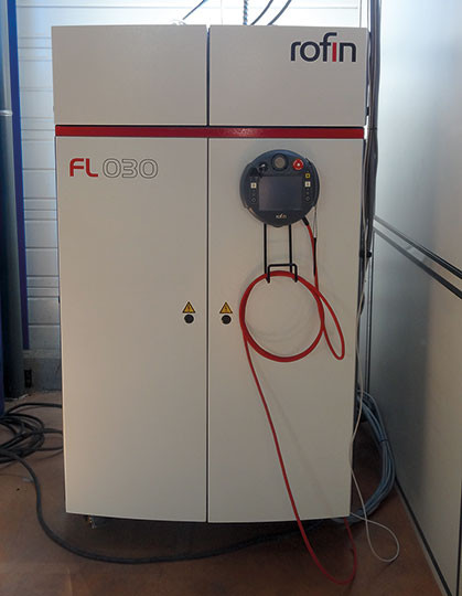 source laser fibre
