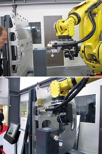 robot percage panneau aeronautique