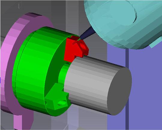 simulation usinage collision