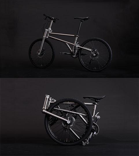 velo pliage titane helix bikes