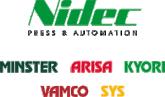 Nidec / Minster Arisa Kyori Vamco SYS